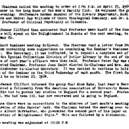 Minutes, 1964-04-15. Eighte...