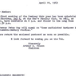 Announcements, 1969-04-24. ...