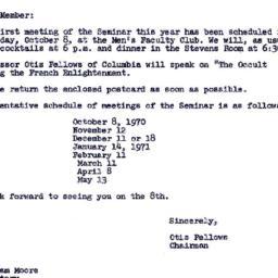 Announcements, 1970-09-23. ...