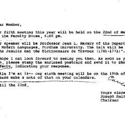 Announcements, 1979-02-27. ...