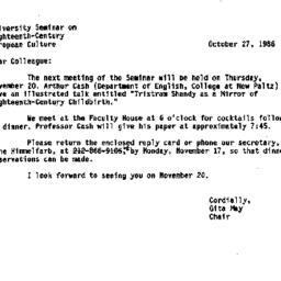 Minutes, 1986-11-20. Eighte...