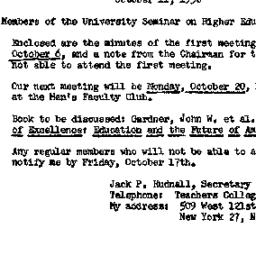 Minutes, 1958-10-11. Higher...