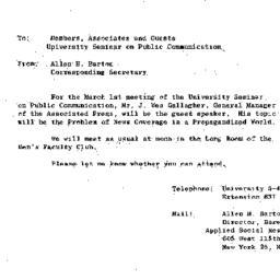 Announcements, 1963-03-01. ...