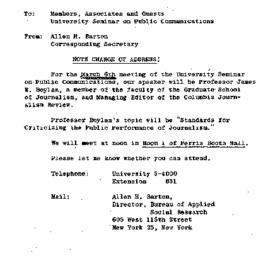 Announcements, 1964-02-28. ...