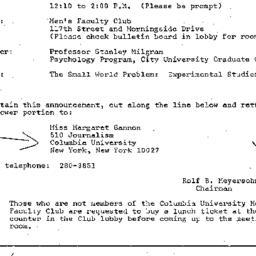 Announcements, 1971-01-15. ...