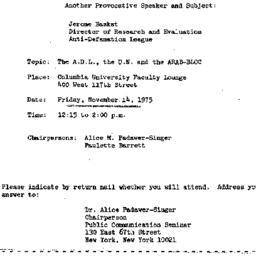 Announcements, 1975-11-14. ...