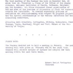 Announcements, 1957-02-04. ...