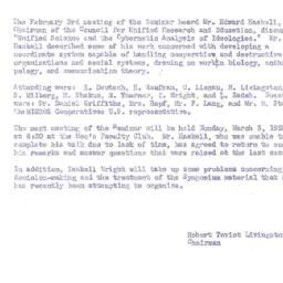 Announcements, 1958-03-03. ...