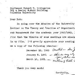 Correspondence, 1960-12-14....