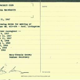 Schedules, 1967-09-21. Orga...