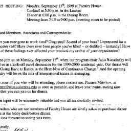 Announcements, 1999-09-13. ...