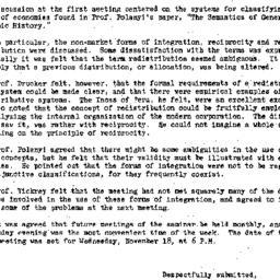 Minutes, 1953-10-26. Social...