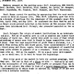 Minutes, 1954-12-09. Social...