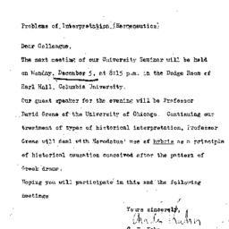 Announcements, 1960-11-25. ...