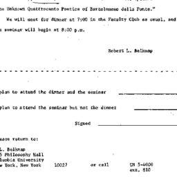 Announcements, 1965-03-08. ...