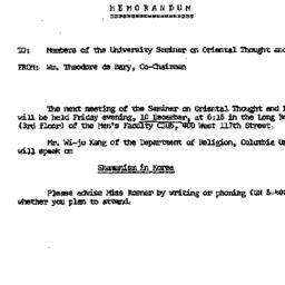 Announcements, 1965-12-10. ...