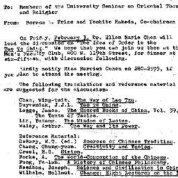 Announcements, 1967-02-03. ...