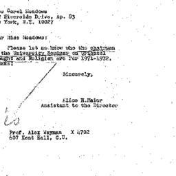 Correspondence, 1971-10-12....