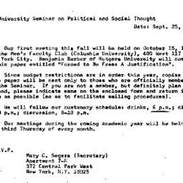 Announcements, 1970-09-25. ...