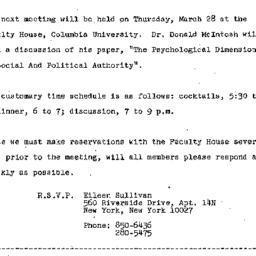 Announcements, 1974-03-14. ...