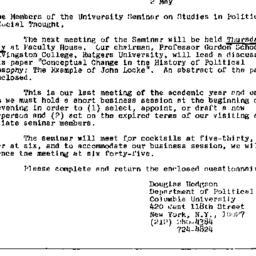 Announcements, 1975-05-02. ...
