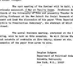 Announcements, 1976-04-27. ...