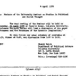 Announcements, 1978-04-04. ...