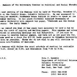 Announcements, 1981-12-17. ...