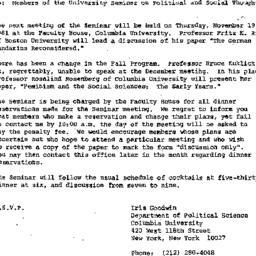 Announcements, 1981-11-01. ...