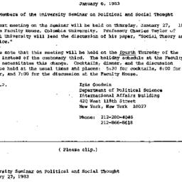 Announcements, 1983-01-06. ...