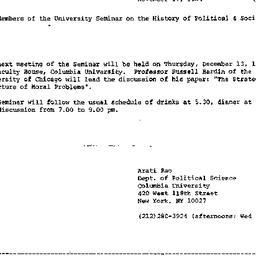 Announcements, 1984-11-17. ...
