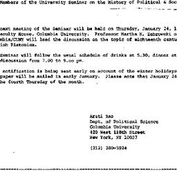 Announcements, 1984-12-14. ...