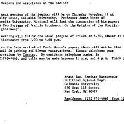 Announcements, 1987-11-11. ...