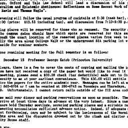 Announcements, 1988-10-26. ...