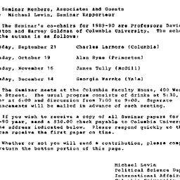 Announcements, 1990-08-08. ...