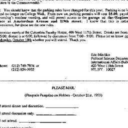 Announcements, 1993-09-23. ...