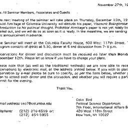 Announcements, 1994-11-27. ...