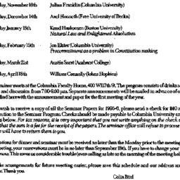Announcements, 1995-09-02. ...