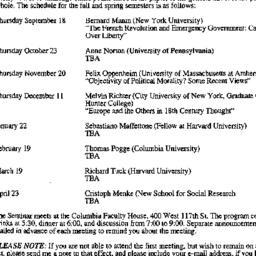 Announcements, 1997-09-10. ...