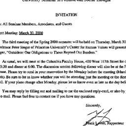 Announcements, 2000-03-08. ...
