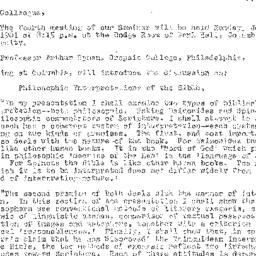 Announcements, 1961-01-02. ...