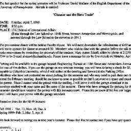 Announcements, 1998-03-24. ...