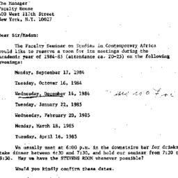 Correspondence, 1985-05-25....