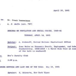 Correspondence, 1961-04-10....