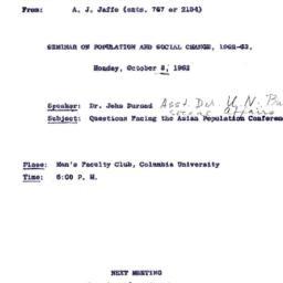 Correspondence, 1962-09-26....