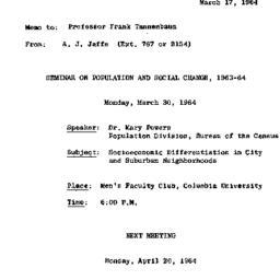 Correspondence, 1964-03-17....