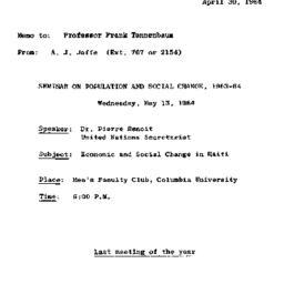Correspondence, 1964-04-30....