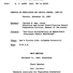 Correspondence, 1963-10-29....