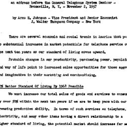Speaker's paper, 1958-01-20...