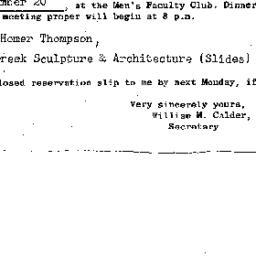 Announcements, 1962-12-20. ...